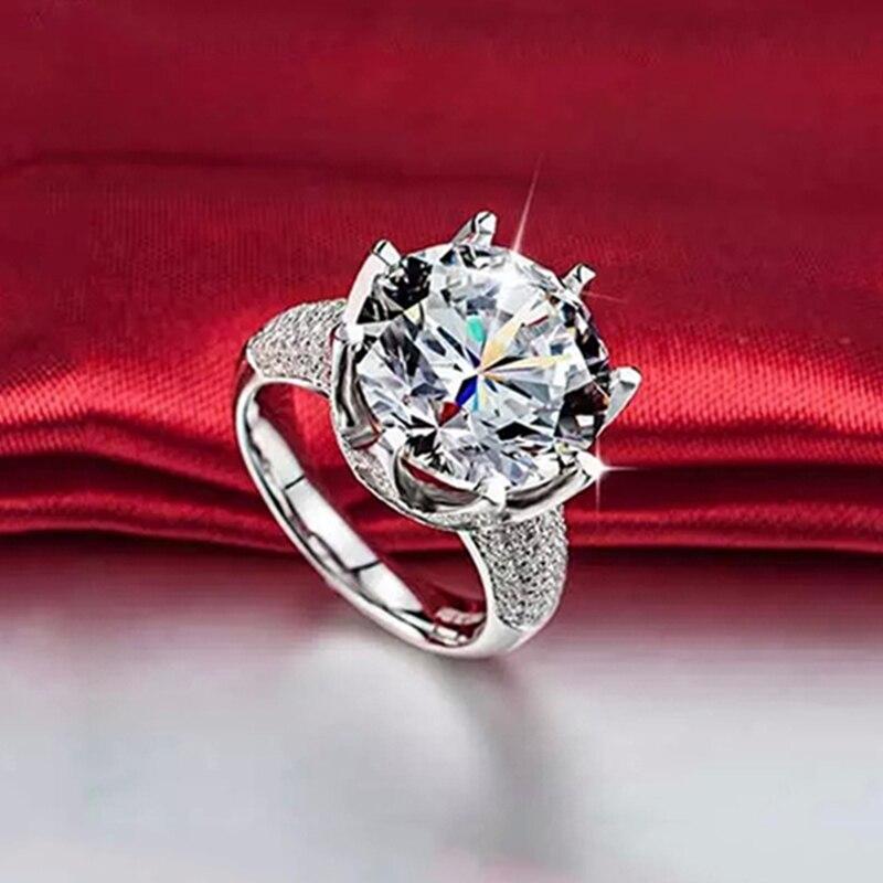Big Stone 8 karat glans kristallringar för kvinnor Vintage - Märkessmycken - Foto 3