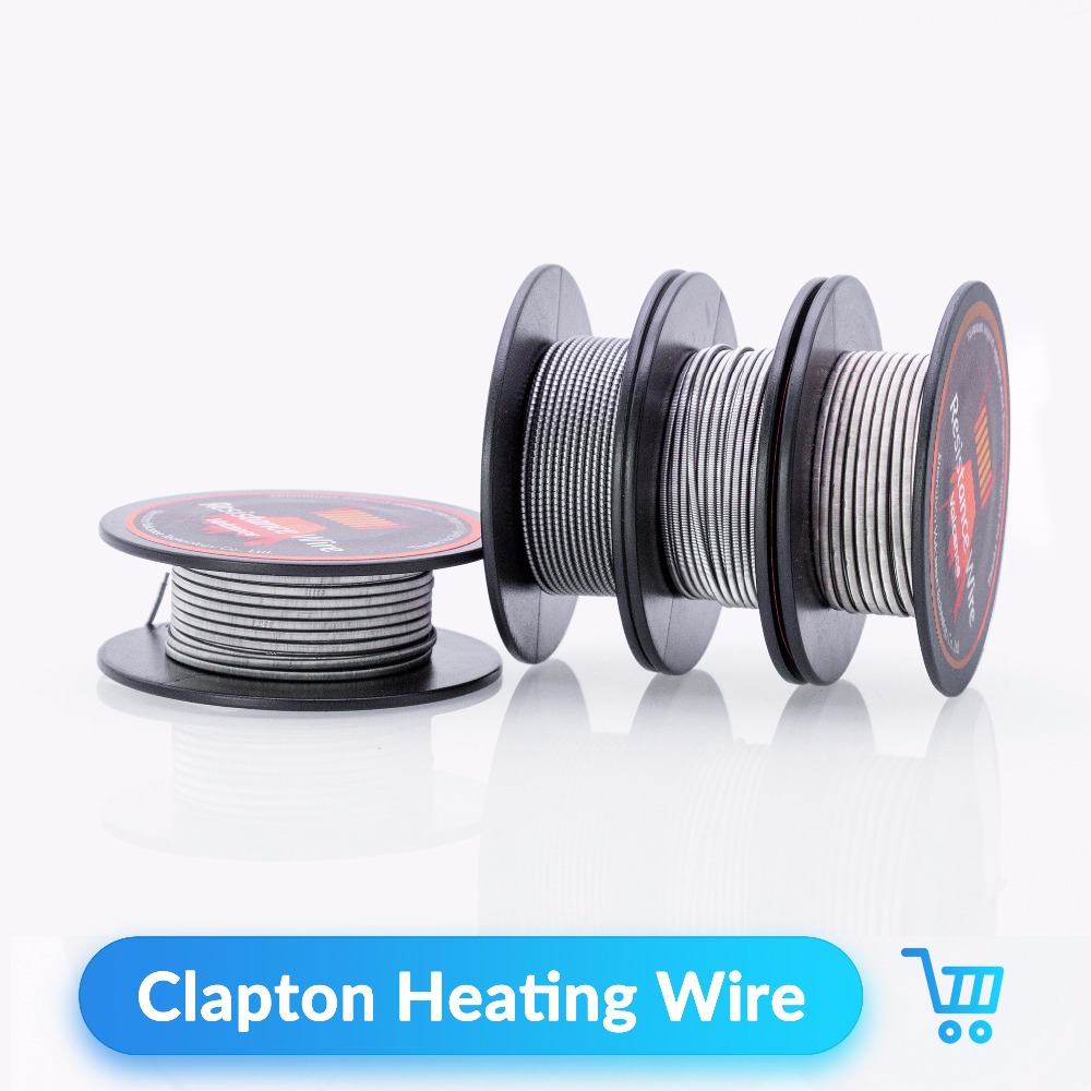 Volcanee 5m/roll Alien Clapton Heating Wire A1 Resistance Wire Rebuit Coil Wire for RDA RTA Tank Vape DIY Tool E Cig Accessories