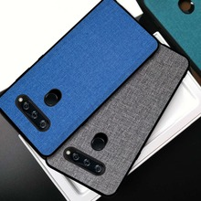 For LG V40 ThinQ case cover back cover silicone edge fabric protective case Hard PC capas for LG V40  v 40 ThinQ 2018 protective pc matte back case for lg g2 red