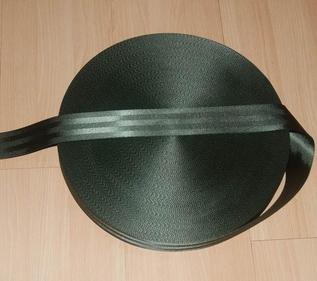 8 metros Rollo de tejido Del Cinturón de Seguridad Correa de OLIVA de Color de 4.8 cm de Ancho 5 Bares