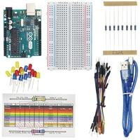 Uno R3 Development Board Starter Kit For Arduino Diode Resistor Bread Resistor Card 65 Jumper With