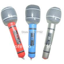 2015 Hot Sale Inflatable Musical Instrument Simulation Microphone Toys Stage Props Party Suppliers Multicolored 25cm 30cm 50cm