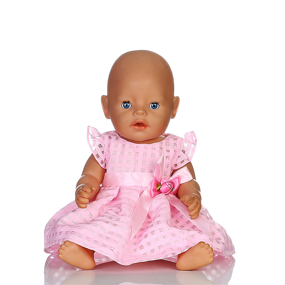 Pink Skirt + Underpants Doll Clothes Wear fit 18 inch American Girl,43cm Baby Born zapf, Children best Birthday Gift N288