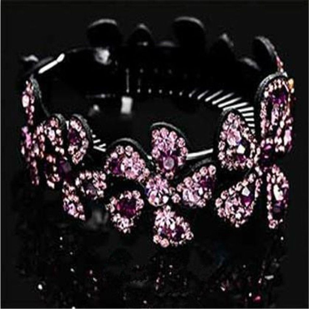Rhinestone Flower Hairpins Girl Babby Pin Hair Barrettes women Hair Accessories Wrap female Brand Hair Holder Hair Clip