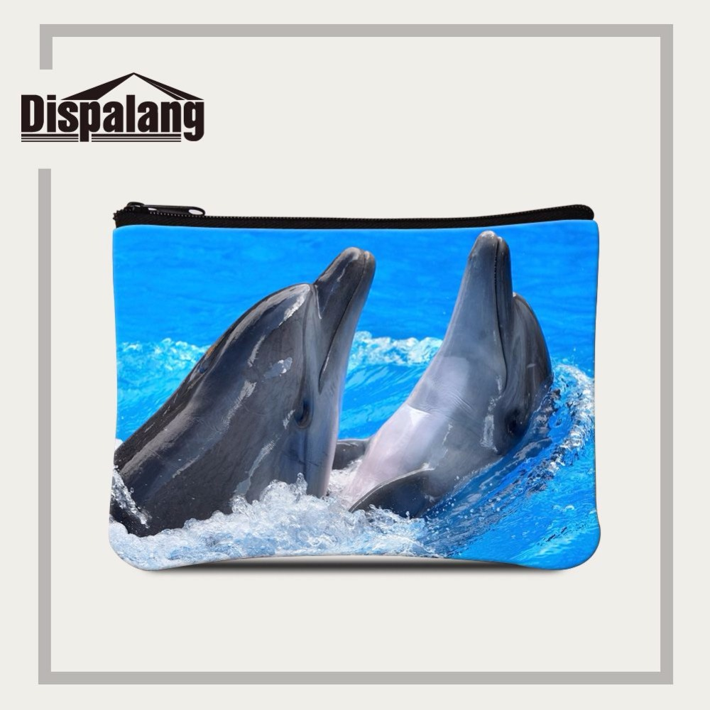 Luggage & Bags Honest Dispalang Lovely Children Wallet Card Holder/case Bag Dolphin Print Women Coin Bags Lady Pouch Mini Purse Portable Makeup Bag Coin Purses & Holders
