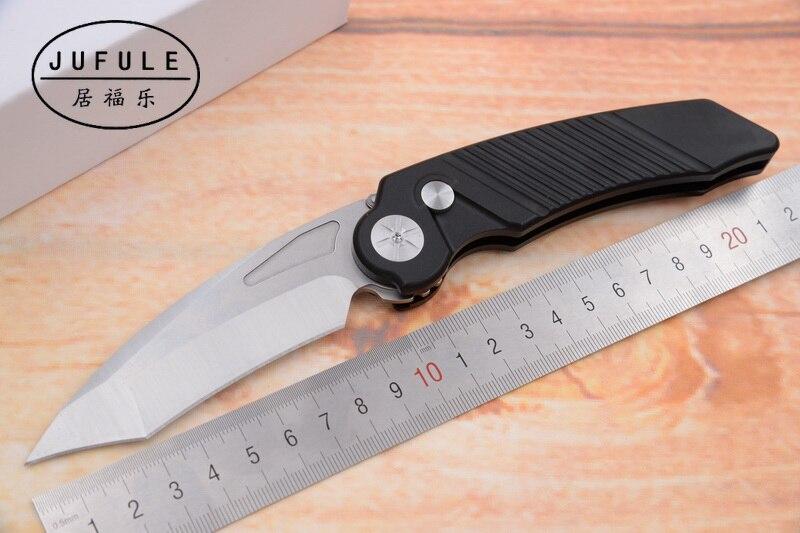 JUFULE OEM Order Rat Worx Flipper Folding D2 Blade Aluminum Handle Outdoor Gear Tactical Camping Hunting EDC Tool Kitchen Knife