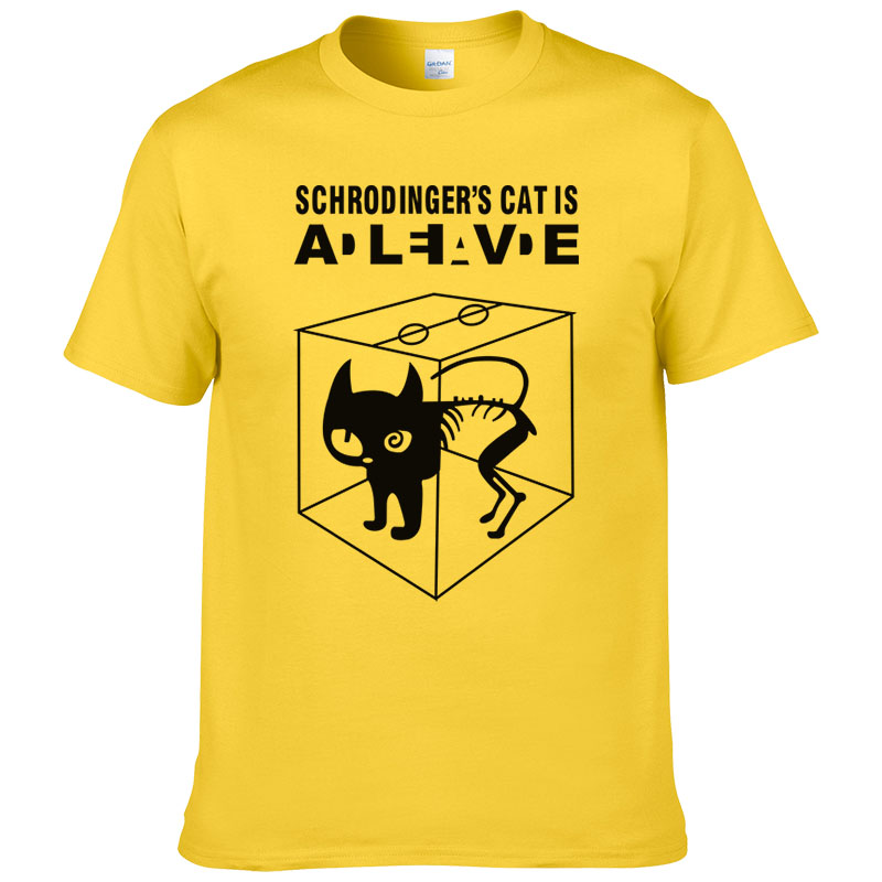 2017 Summer Cotton Schrodinger's Cat Printed Short Sleeves Men T Shirt Casual Tees The Big Bang Theory Mens T-shirt #247