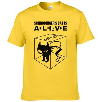 2017 summer cotton Schrodinger's Cat printed short sleeves men T shirt casual tees The Big Bang Theory mens T-shirt #247 - discount item  40% OFF Tops & Tees