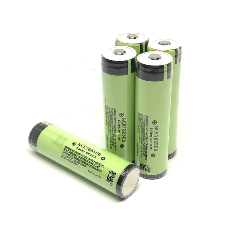 10 pçs/lote Novo Original Protegido Panasonic 18650 NCR18650B Baterias De Lítio 3.7V 3400mAh Bateria Recarregável com PCB