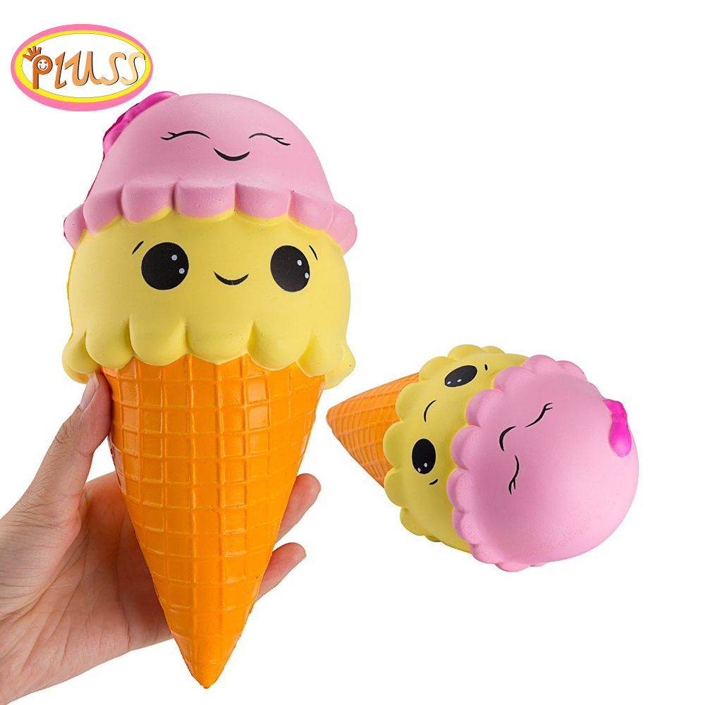 Jumbo Colorful Ice Cream Squishy Slow Rising Soft Creative Squeeze Toys Simulation Stress Relief Funny Xmas Gift Toy For Kids