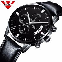 Męskie zegarki Top marka męskie zegarki modne zegarki Relogio Masculino wojskowe zegarki kwarcowe tanie zegarki męskie sportowe NIBOSI tanie tanio 20cm DRESS QUARTZ NONE 3Bar Przycisk ukryte zapięcie CN (pochodzenie) STAINLESS STEEL 10 65mm Hardlex Kwarcowe Zegarki Na Rękę