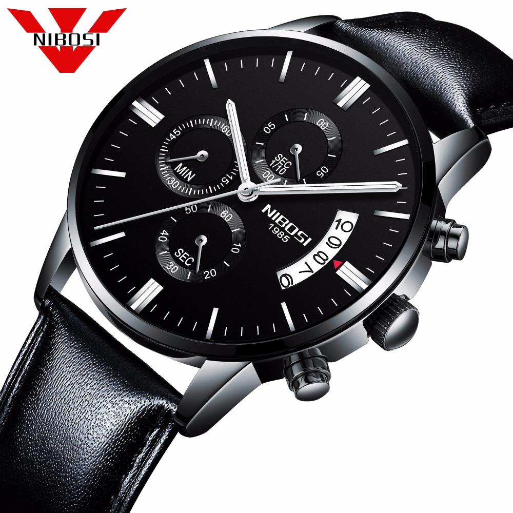 NIBOSI Men Watch Top Brand Men's Watch Fashion Watches Relogio Masculino Military Quartz Wrist Watches Cheap Clock Male Sports