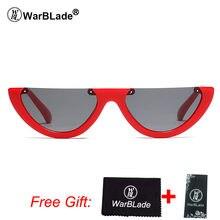 WarBLade metade vintage frame óculos de sol das mulheres gato olho pequeno  preto branco vermelho transparente colorido uv400 ócu. 5d016d840d