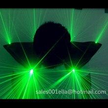 2 Pcs Green Laserman Show Shoulder Suit LED Luminous Vest Waistcoat Green Laser Man Costume Clothes For DJ Party Bar Nightclub