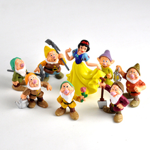 8pcs disney princess 5-10cm Snow White Toys PVC Action Figure The Seven Dwarfs Toys Dolls Toys For Children birthday gifts 2DS09 24cm love live nico yazawa pvc figure action cute character dolls children s toys doll birthday gifts