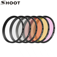 6 In 1 58mm Lens Filter Kits With UV CPL ND4 Yellow Red Purple Lens Ring