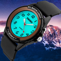 EL Back Light Men Quartz Watch Waterproof 50M Silicone 2018 Top Brand Luxury Wristwatch Adjustable White