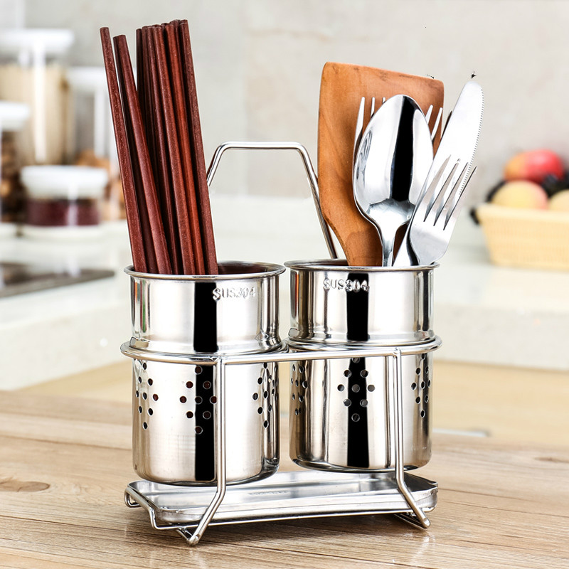 все цены на A1 Stainless steel chopsticks holder storage box wall hanging chopsticks cage household drain chopsticks Lu 41918