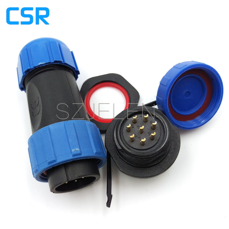 SP2110/P8-S8, 8 pin connector,LED outdoor waterproof connectors, 8 pin wire to wire connectors waterproof and dustproof, IP68 sp2110 5 pin waterproof connectors plug and socket industrial power panel mount connectors waterproof and dustproof connector