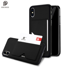 hot deal buy pu leather card case for iphone x wallet credit card slot back cover for iphone x / iphone 10 5.8