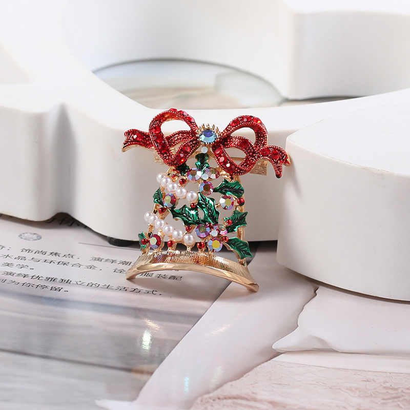 LUMPUR Yılbaşı Hediyeleri Güzel Kırmızı Ayakkabı Çizme Ağacı Hayvan Kadınlar için Broşlar Iğneler Tam Rhinestones Noel Broş Yeni 09