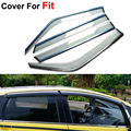 4pcs/lot Vent Rain Sun Shield Window Side Visor For Honda Fit 2014 Stickers Covers Car-Styling Accessories Smoke PC Vent Guard