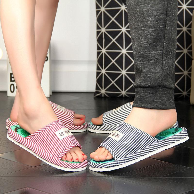 Foot Massage Slippers Acupressure Points Massage Magnetic therapy Slippers Feet Care Massager Sandals Pain Relief L3