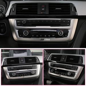 Image 5 - Per BMW F30 F34 320i 3 Accessori di serie In acciaio inox Faro Interruttore Bottoni Decor Copertura Interior Trim Car Styling Sticker