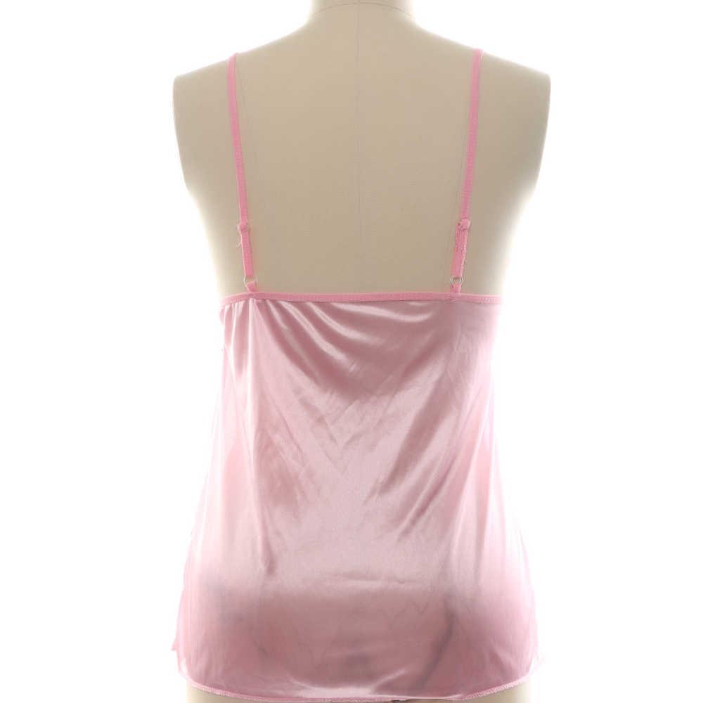 094e38c45941 ... 1 Set 2019 Fashion Hot Sale Sexy Women Satin Lace Sleepwear Soft  Lingerie Nightdress + Underwear ...