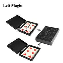 Niespodzianka przywrócić pole magiczne sztuczki czarna obudowa z tworzywa sztucznego uszkodzony karta papierowa przypadku blisko Up magiczne sztuczki rekwizyty zabawki dla dzieci