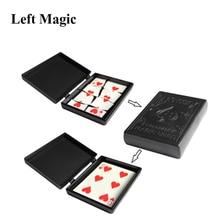Surprise Restore Box Magic Tricks Black Plastic Box Broken Paper Card Case Close Up Magic Tricks Props Toys For Children