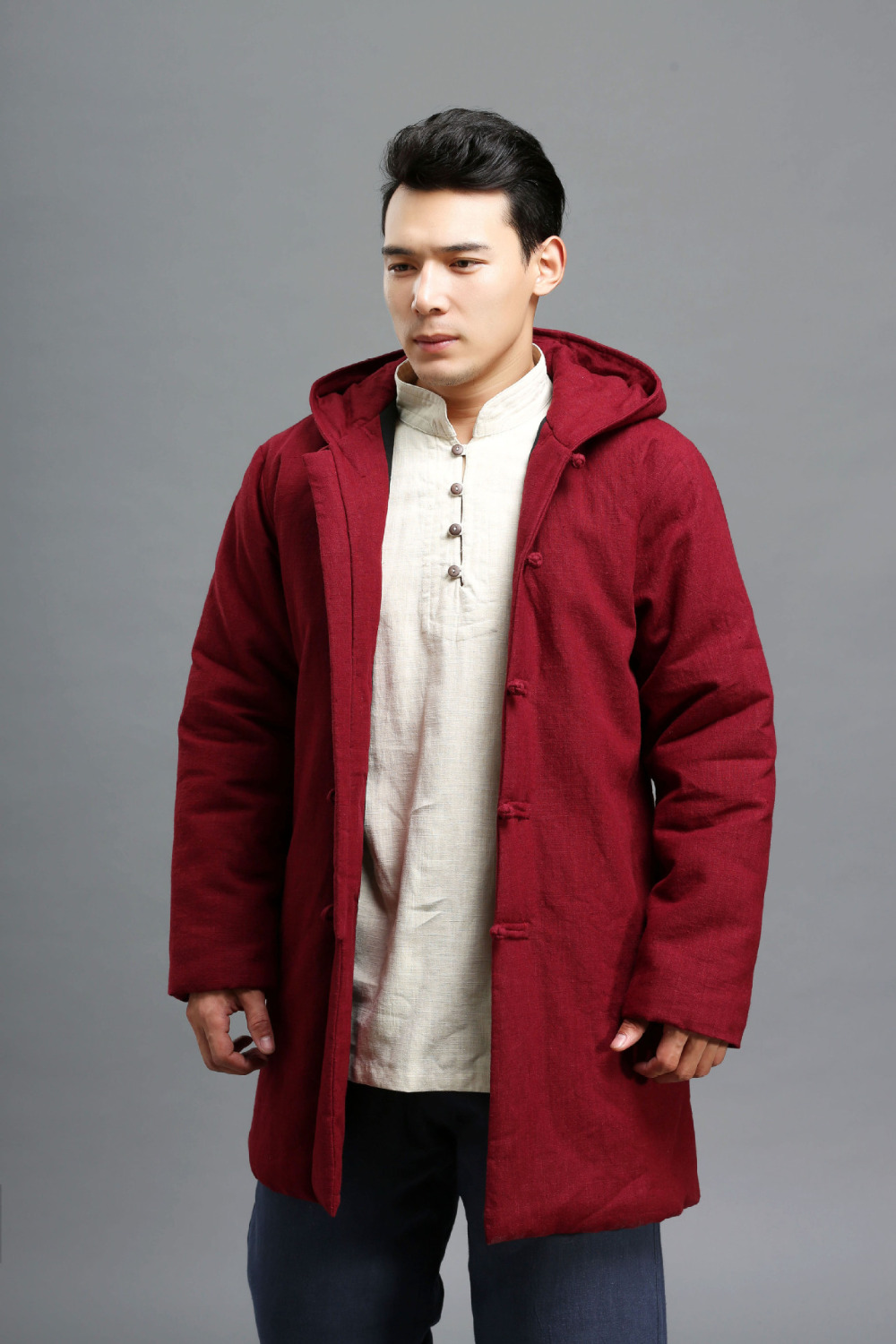 2015 Autumn winter 3 colors cotton linen men's coat vintage Cotton-padded clothes Outer Parkas two-sided Jacket 2015 autumn winter 3 colors cotton linen men s coat vintage cotton padded clothes outer parkas two sided jacket