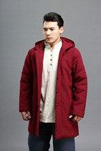 2015 Осень зима 3 цвета хлопок белье мужские пальто урожай Хлопка-проложенный одежда Космического Парки двусторонняя куртка