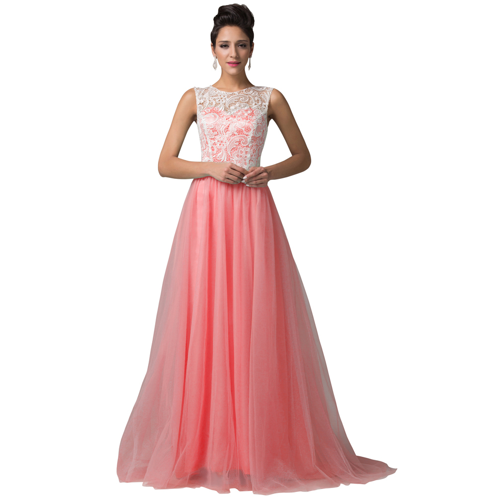 11b2346873 New Arrival Sleeveless Long Blue Yellow Watermelon Mint Green Tulle Lace  Prom Dresses Floor Length Beautiful Formal Dress