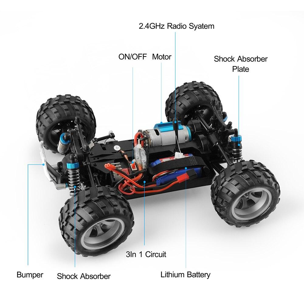 Wltoys A959/A979 Rc voiture 1:18 version de mise à niveau haute vitesse 70 km/h 2.4G voiture 4WD radiocommande camion RC Buggy tout-terrain jouets pour garçon - 6