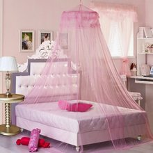 Urijk Pink Romantic Mosquito Lace Net For Girls Baby Canopy Mosquito Net For Double Bed Mosquito Repellent Tent Curtain Bed Tent(China)