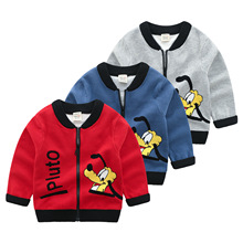 2018 Winter Boys Cardigans Cartoon Dog Baby Boy Knitted Cardigan Sweaters For Kids