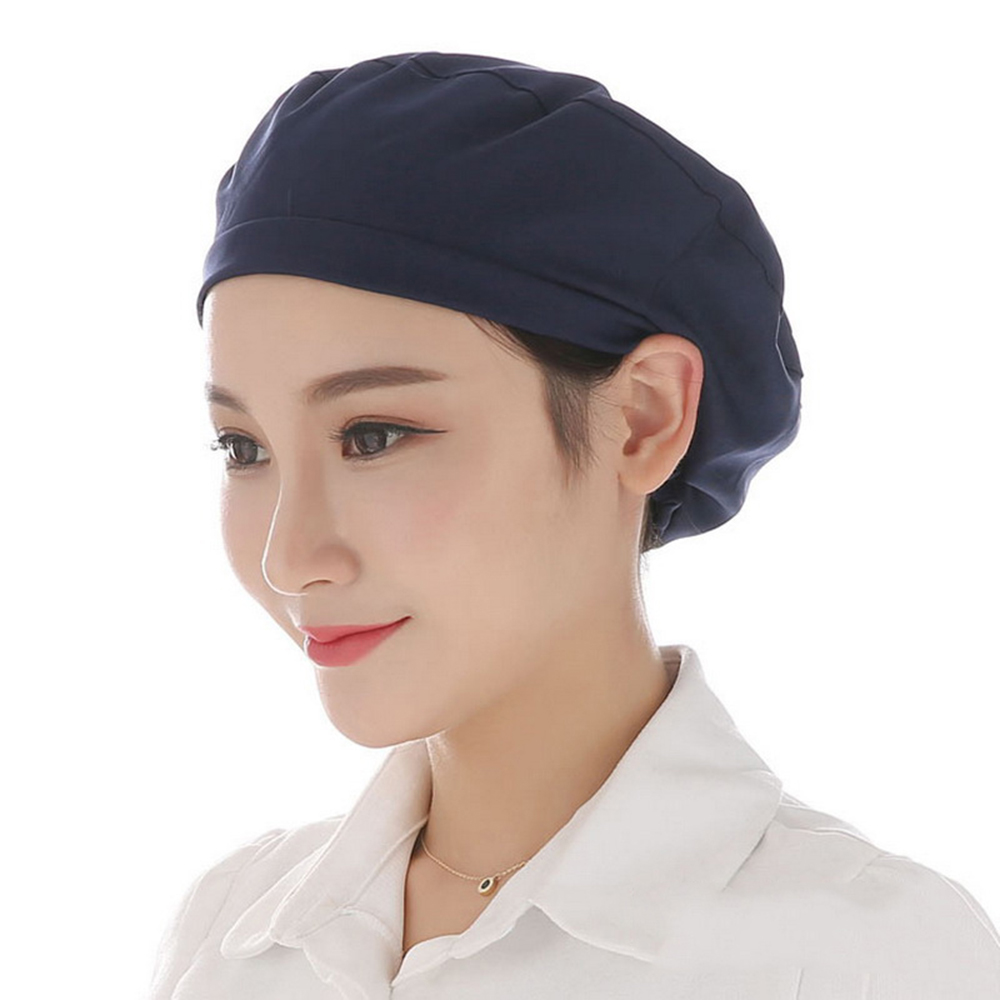 Men Women Food Service Caps Breathable Sanitary Dust Cap Workshop Canteen Kitchen Restaurant Hotel Bakery Waiter Chef Work Hats image