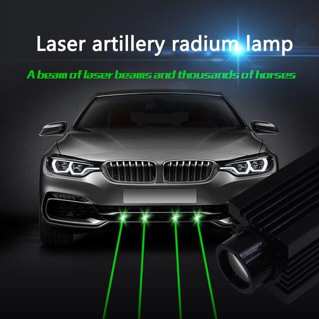 Car LED Truck laser fog lamp infrared strong light 100MW laser cannon green light decoration lamp refitted radium lamp 12v 24v