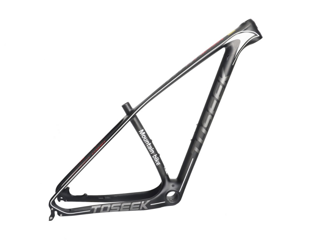 TOSEEK Bicycle 26er/27.5er/29er carbon frames 15/17/19/21 inch carbon mountain bike frameset carbon mtb road frame 2017 new toseek t800 full carbon bike frame 26er 27 5er 29er mtb bicycle frame ud matte 15 17 19 21 inch match 27 2mm seatpost