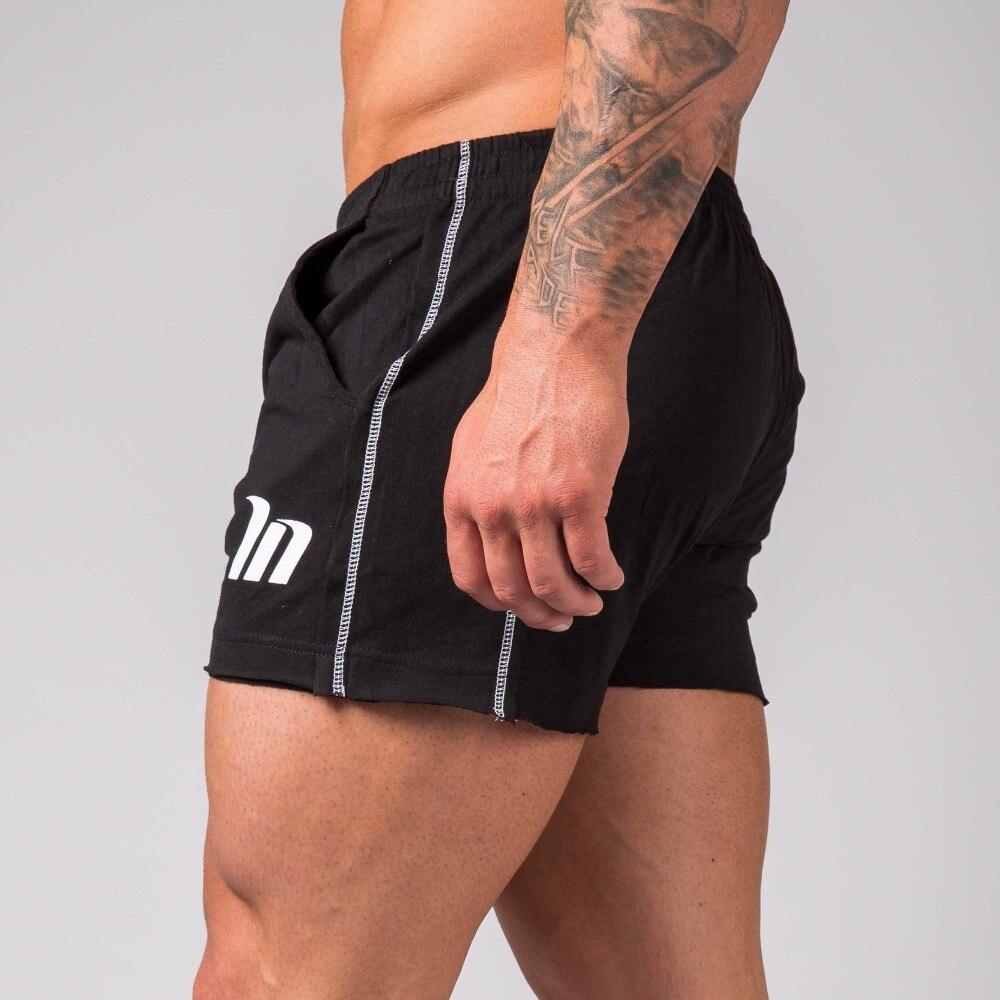 2018 Verano de calidad negro Delgado algodón de los hombres de la marca Mens profesional corto tamaño grande Bermudas Masculina Ultra shor