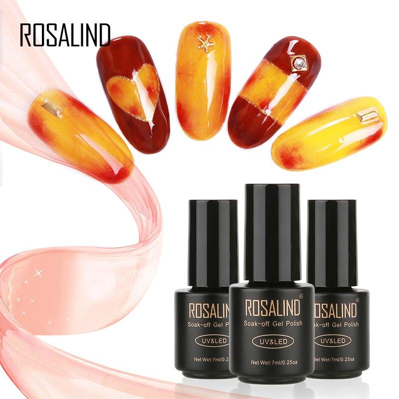 Rosalind DIY Nail Gel Blossom Series Black Bottle 7ml  Soak-Off UV LED Long-lasting Primer Nail Polish Lacquer Gel Varnish