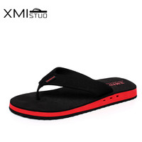 Trend Cool Men Slip Slippers Tide Pinch Flip Flops Sandals Breathable Thick Soles Toe Sandals Students