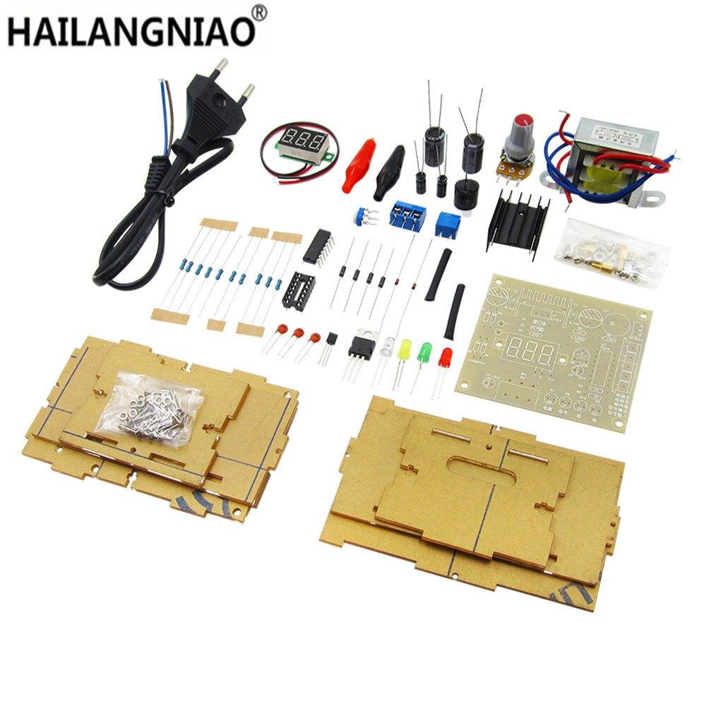 Big Sale Hailangniao 1set Electronic Diy Parts Lm317 Adjustable Voltage Regulator Board Kit Power Supply Transformer