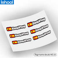 Flag and name stickers custom mountain bike frame logo personal name decals custom rider ID sticker bicycle STYLE.16