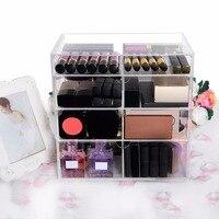 Langforth Large Beauty Cube 4 Tier Acrylic Cosmetic Box Makeup Organizer Storage