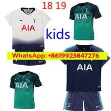 e18f08cce NEW 18 19 Kids Kit Tottenhames KANE Soccer Jerseys Home white 2018 2019  LAMELA ERIKSEN DELE SON Away blue boys child Football