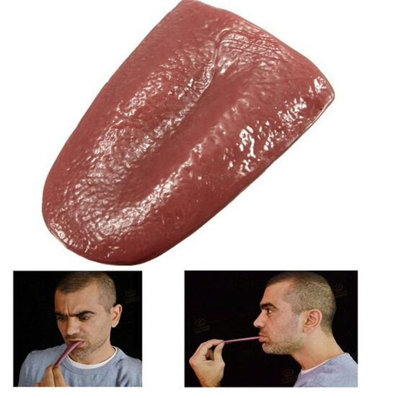 Adult Horrible Magic Simulation False Tongue Props Novelty Jokes Toys for Children Halloween Party Bar Fun Game Gifts