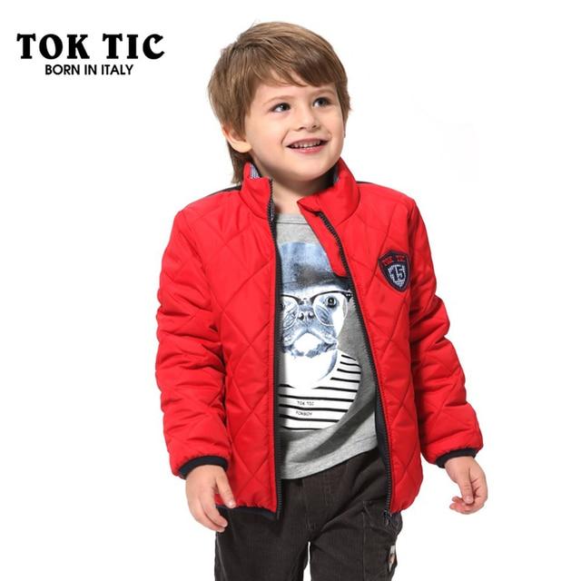 eb7d48f443bf TOKTIC Kid Boys Red Coats Children Clothing Fashion Winter Boy ...
