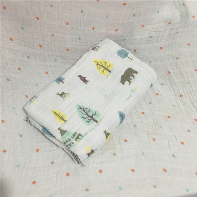 baby muslin quilt blanket Cartoon Printed Cotton Baby Blanket Soft Breathable For Newborn